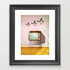 Flying Ducks Framed Art Print