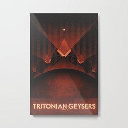 Triton - Tritonian Geysers Metal Print