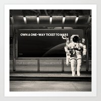 astronaut Art Prints featuring Astronaut by eARTh