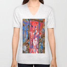 wall in colors Unisex V-Neck