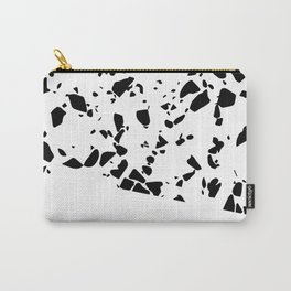 Terrazzo Texture Black and White #8 Carry-All Pouch