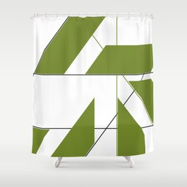 Shapes and Lines Shower Curtain