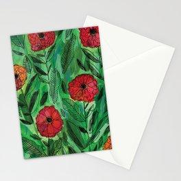 Zinnias Stationery Cards