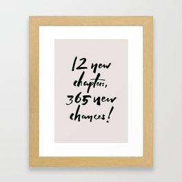 12 CHAPTERS | light Framed Art Print