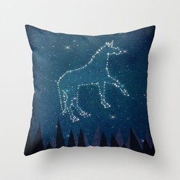 Constellation Unicorn Throw Pillow