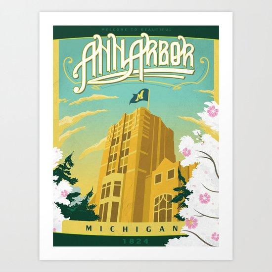 Ann Arbor Union Art Print