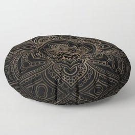 Golden Sri Yantra  / Sri Chakra in lotus Floor Pillow