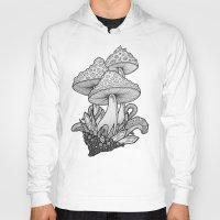 mushrooms Hoodies featuring Mushrooms by Sushibird