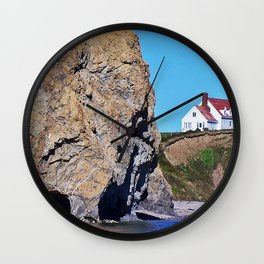 Cliffside Coastal Home Wall Clock