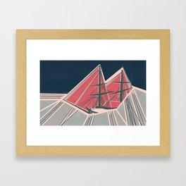 Terror in the Ice Framed Art Print