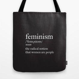 Feminism Definition Tote Bag