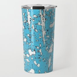 Old chipping paint as abstract artwork Travel Mug