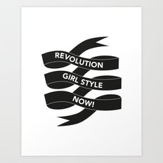 Revolution Girl Style Now! Typographic Banner Art Print