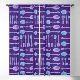 Unique Artsy Spoons! (Purple) Blackout Curtain