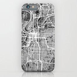 Kansas City Missouri City Map iPhone Case