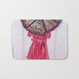Girl in Purple Wellies Bath Mat