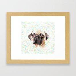 Pointillistic Pug Framed Art Print