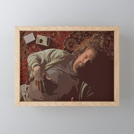 Chill Lebowski Framed Mini Art Print