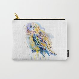 Short Eared Owl Watercolor painting Carry-All Pouch