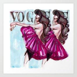 Strike that pose! Art Print