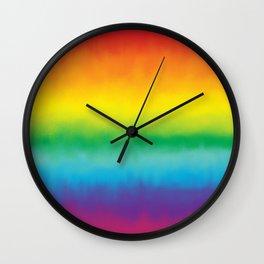 Watercolor Rainbow Wall Clock