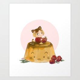 pudding Art Print