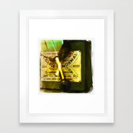 normal is coarse Framed Art Print