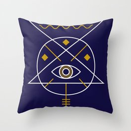 Sacred Geometry All Knowing Eye Cool Abstract Design Throw Pillow