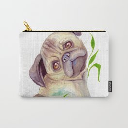 Pug Dog- Watercolor Pet Painting Carry-All Pouch