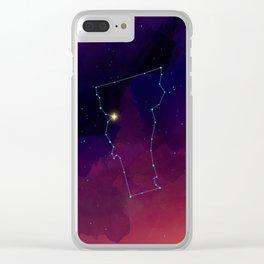 Vermont Constellation Clear iPhone Case