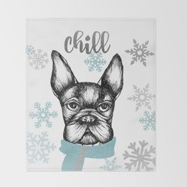 French Chill Throw Blanket