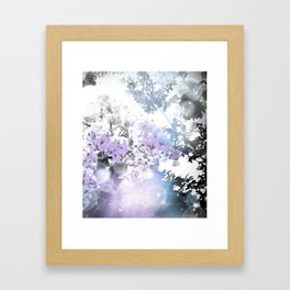 Watercolor Floral Lavender Teal Gray Framed Art Print