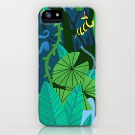 Jungle Monkey Birthday Party iPhone Case