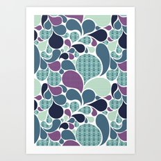 Sea pattern Art Print