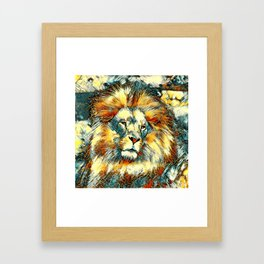 AnimalArt_Lion_20171005_by_JAMColorsSpecial Framed Art Print