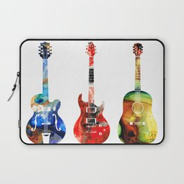 Guitar Threesome - Colorful Guitars By Sharon Cummings Laptop Sleeve