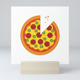 Pizza Salami Mini Art Print