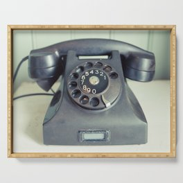 Old Rotary Telephone Serving Tray