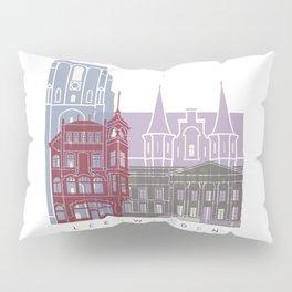 Leeuwarden skyline poster Pillow Sham