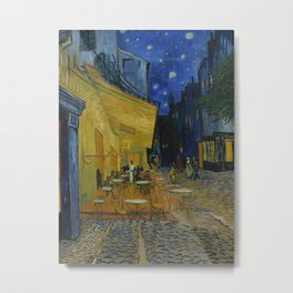 Cafe Terrace at Night Metal Print