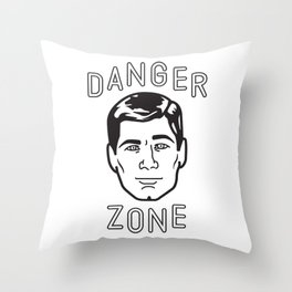 Danger Zone! Throw Pillow