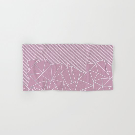 Ab Lines 45 Pink Hand & Bath Towel