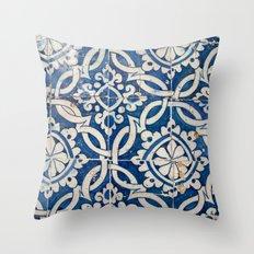 Vintage portuguese azulejo Throw Pillow