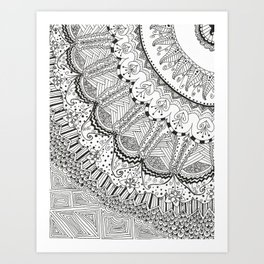 Doodle Madness Art Print