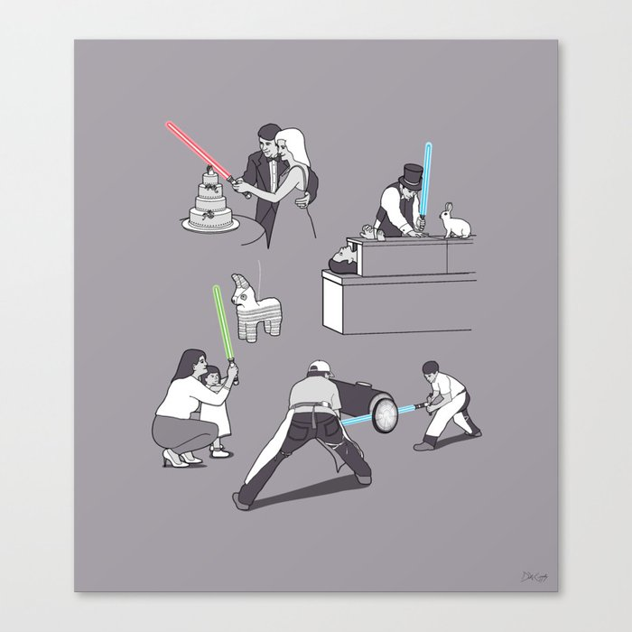 Everyday Lightsabers Canvas Print