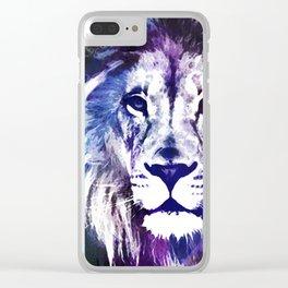Purple Lion Clear iPhone Case