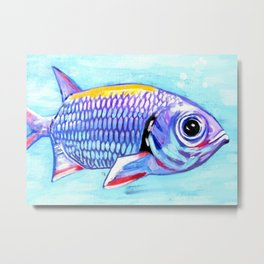 Fish Lips Metal Print