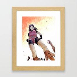 Resident Evil - Claire Redfield Tribute Framed Art Print