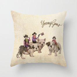 Young Guns Throw Pillow