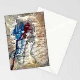Vesalius mourning skeleton Stationery Cards
